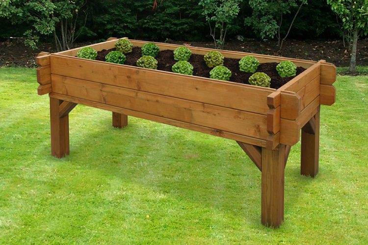 Why have a raised garden bed with legs?